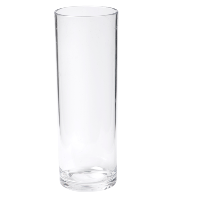 Glas, longdrinkglas, onbreekbaar, PETG, durable (500x), 310ml, 158mm, transparant 1