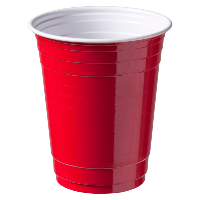 Partycup, PS, 350ml, 12oz, 300ml, rood 1