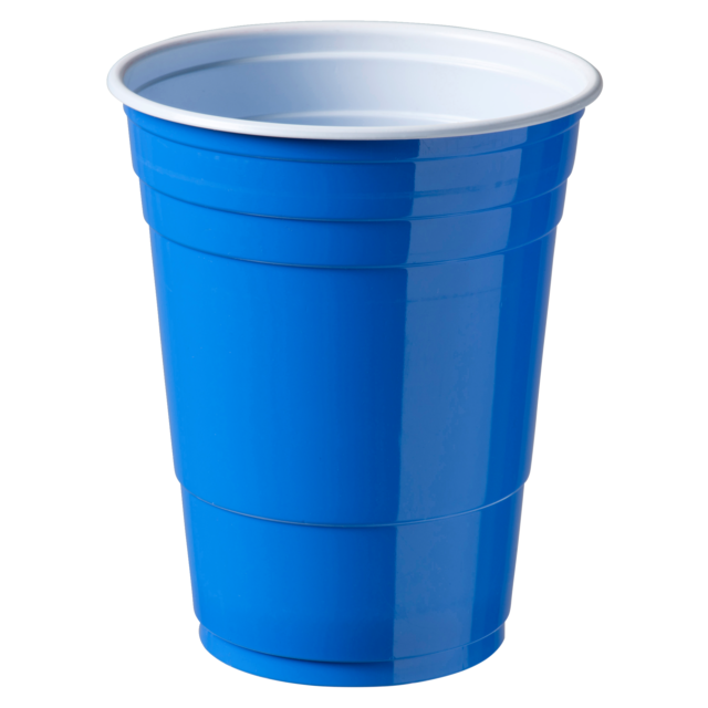 Partycup, PS, 473ml, 400ml, blauw 1