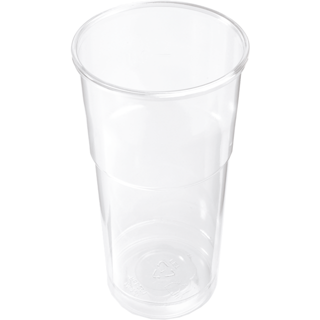 Glas, bierglas, splintervrij, PET, 650ml, 147mm, glashelder 1