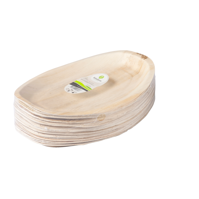Biodore® Bowl, Palm frond, rectangular, 42x28cm, natural 2
