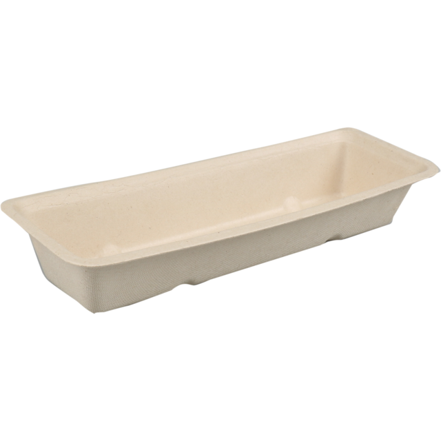 Biodore® Container, Bagasse, A16, 200x72x32mm, brown  1