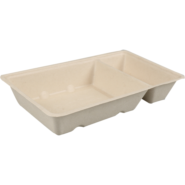 Biodore® Container, Bagasse, A7+1/A23, 170x95x30mm, brown  1