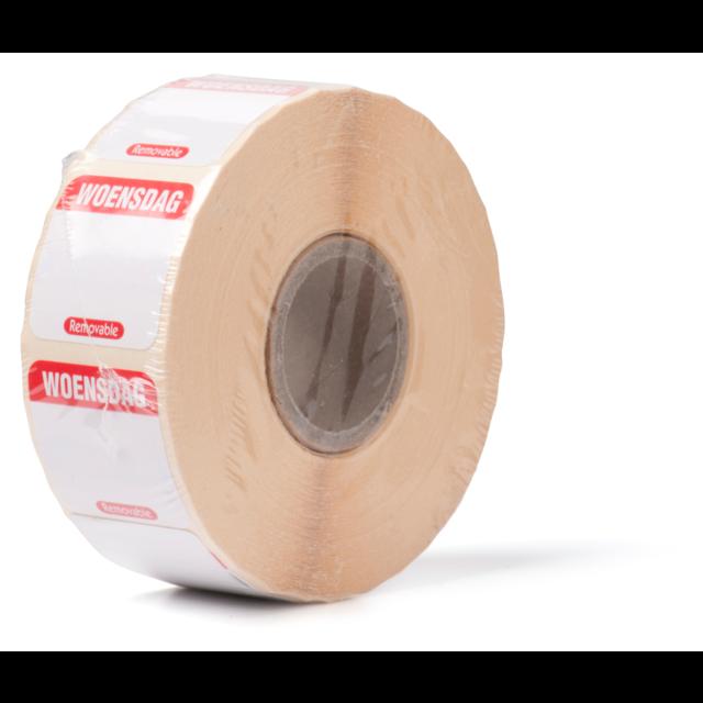 Foodsecure label papier verwijderbaar 25x25mm rood 549822 foodsecure hygi ne depa for Verwijderbaar glas
