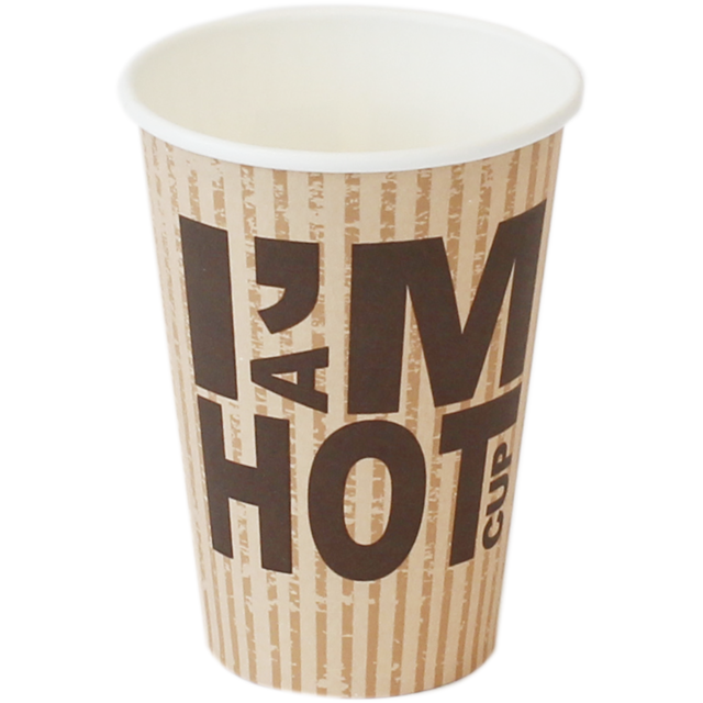 I'M Concept, Coffee cup, Karton und Kunststoff, brown/White 1