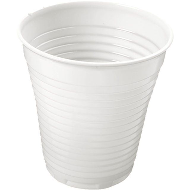 Drinking cup, PS, 150ml, 6oz, 76mm, white 1
