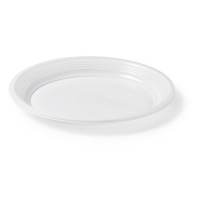 Bright® Bord, rond,  1-vaks, PS, wit 1