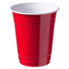 Partycup, PS, 473ml, 400ml, 120mm, rood