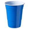 Partycup, PS, 400ml, 16oz, blauw