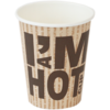 I'M Concept, Koffiebeker, I´M a HOT cup, 8oz, bruin/Wit