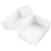 Cake box, Cardboard, 250x250x80mm, white